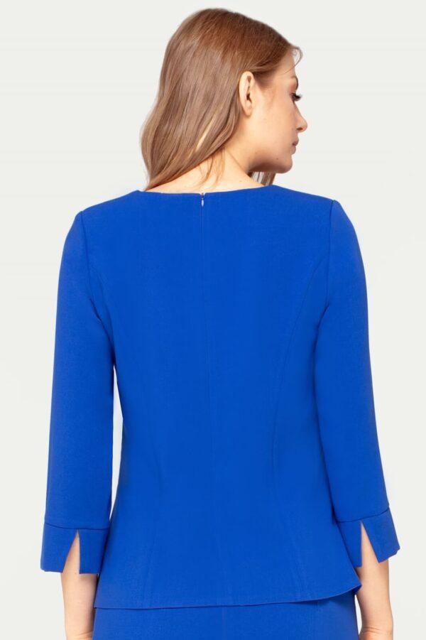 Elegancka bluzka Paula chabrowa. Uniwersalna bluzka damska do pracy i na imprezy