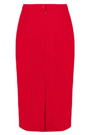 Elegancka spódnica czerwona. Spódnica midi za kolana