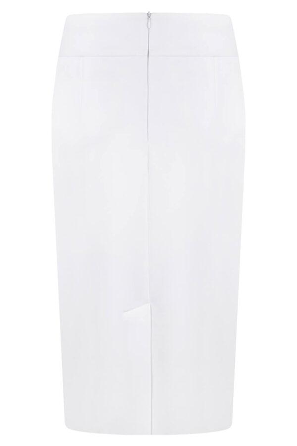 Spódnica Diana biała. Elegancka spódnica na ozdobnym karczku