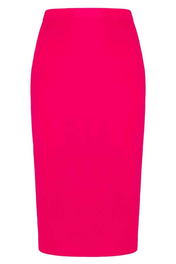 Spódnica amarantowa klasyczna. Spódnica midi za kolana