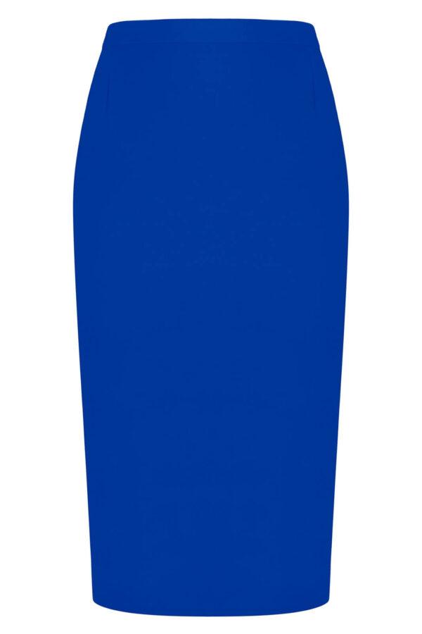 Spódnica chabrowa klasyczna. Elegancka spódnica midi za kolana