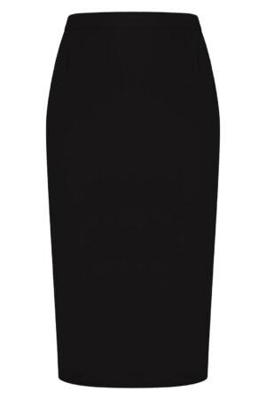 Wizytowa spódnica czarna. Elegancka spódnica midi za kolana