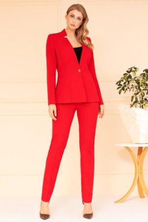 Kostium czerwony ze spodniami
