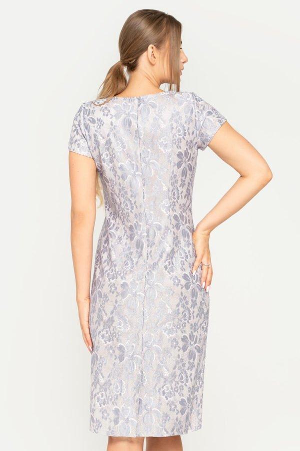 Sukienka Victoria beżowo-szara tył