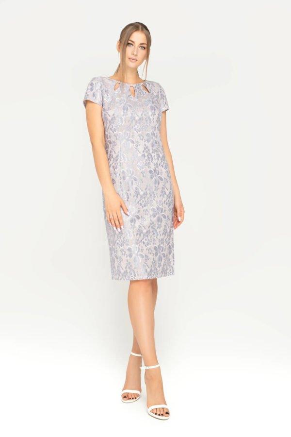 Sukienka Victoria beżowo-szara całość