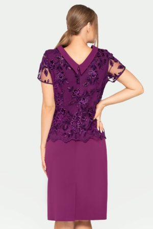 Sukienka Yvonne fioletowa tył