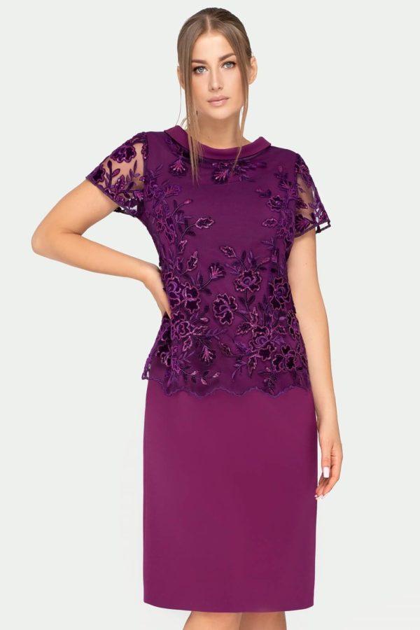 Sukienka Yvonne fioletowa