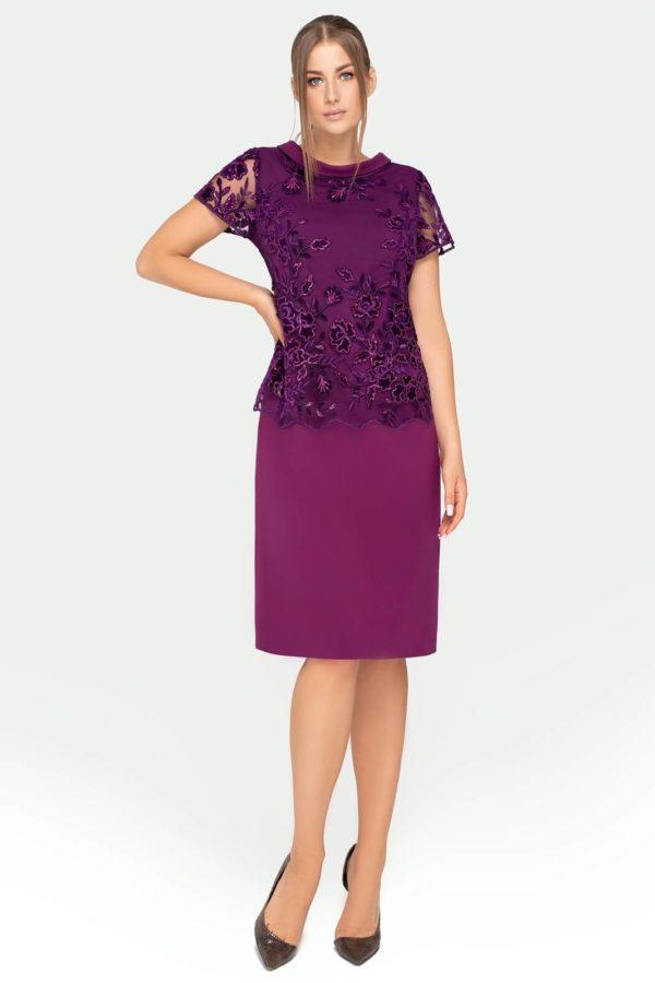 Sukienka Yvonne fioletowa- całość
