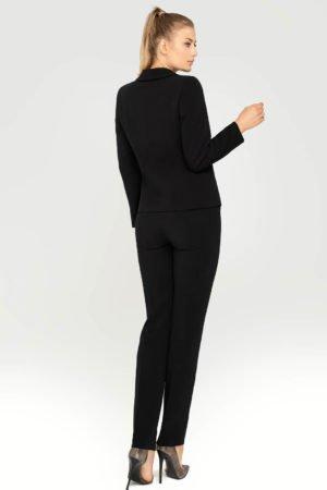 Kostium czarny ze spodniami tył