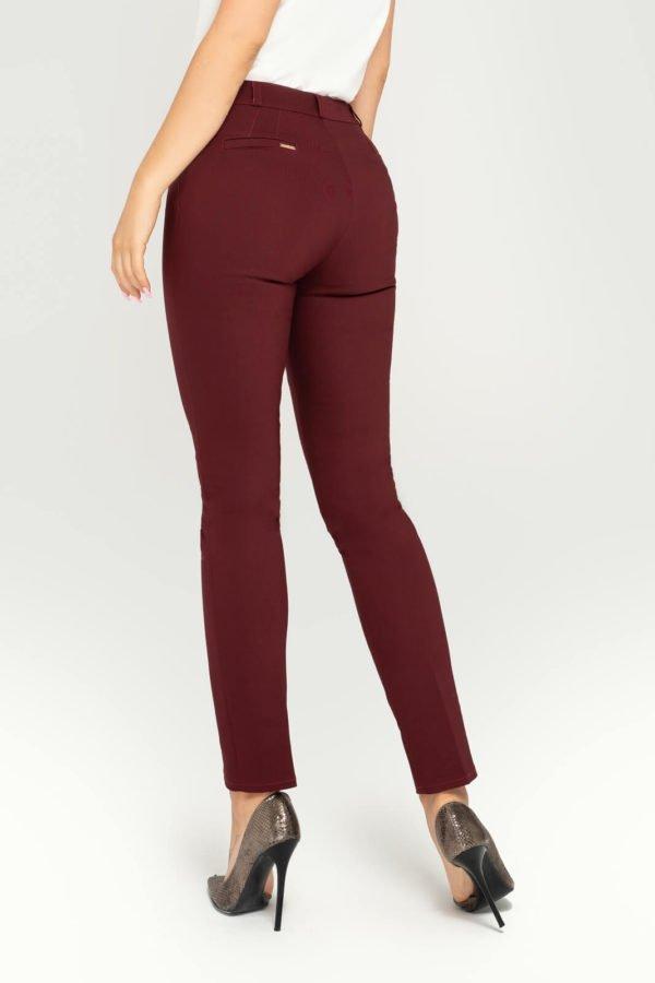 Spodnie bordowe- tył