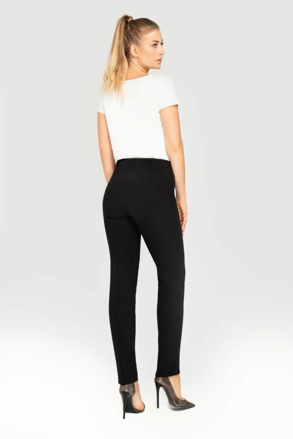 Spodnie klasyczne zwężane czarne- tył