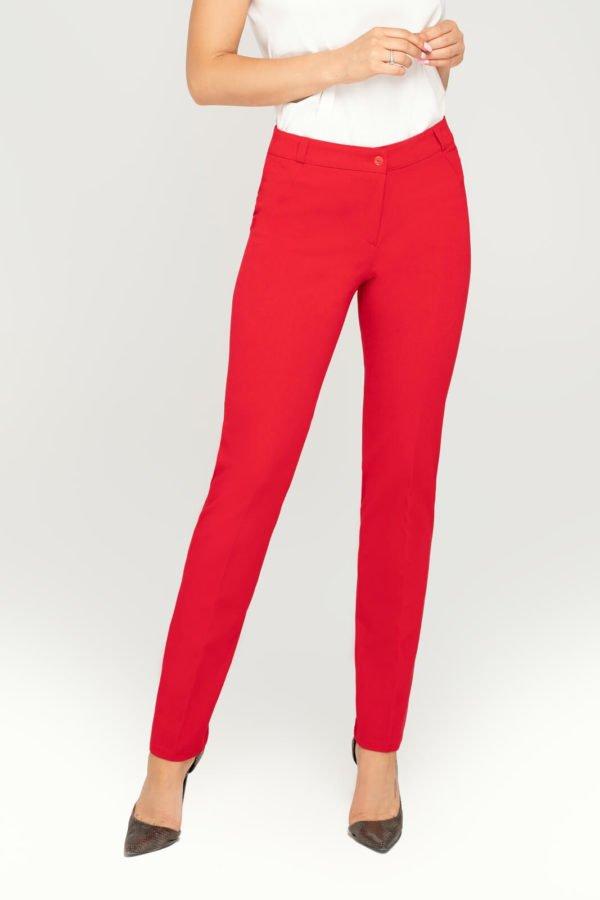 Spodnie klasyczne czerwone- przód