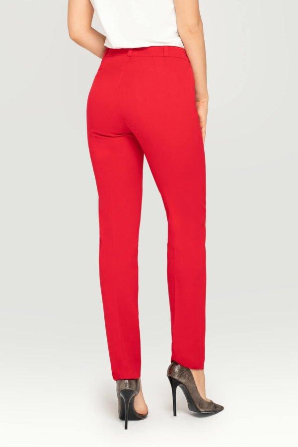Spodnie czerwone- wizytowe spodnie damskie- tył