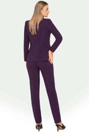 Elegancki kostium damski ze spodniami w kolorze fioletowym