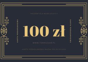 Karta podarunkowa Tomasz Sar 100 zl