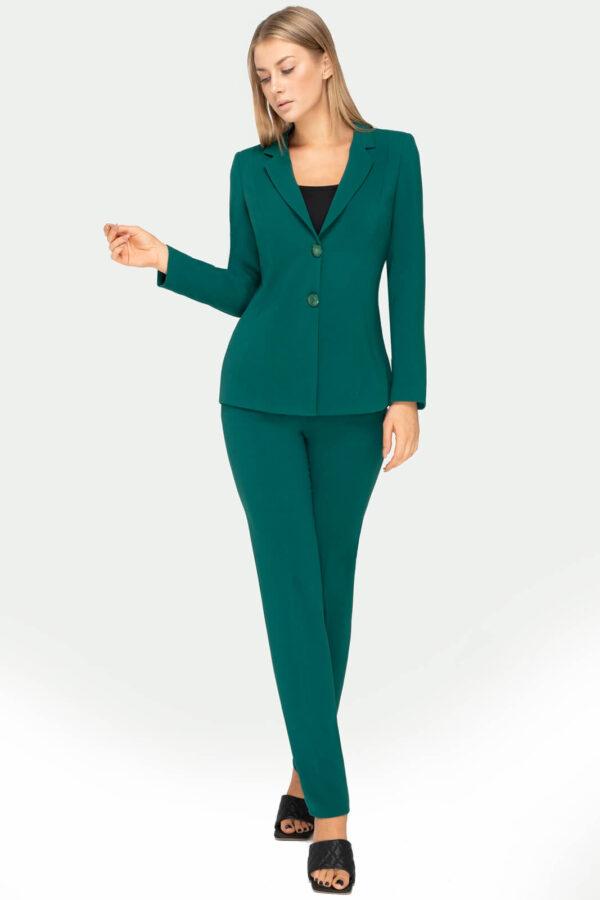 Kostium zielony ze spodniami