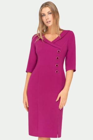 Sukienka Isabelle biskupia. Sukienka kopertowa