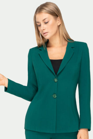 Żakiet Clara zielony. Wizytowa marynarka damska