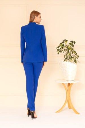 Kostium chabrowy ze spodniami tył