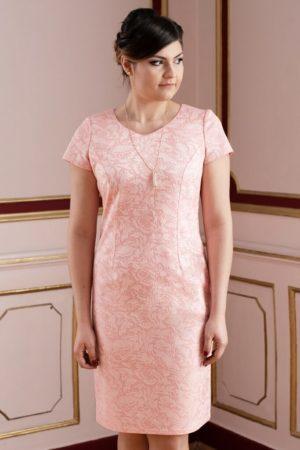 Sukienka łososiowa zbliżenie